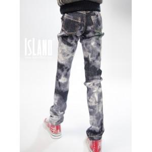 Dark tie-dyed jeans