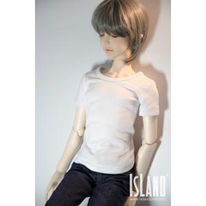 1/3 Low collar T-shirt